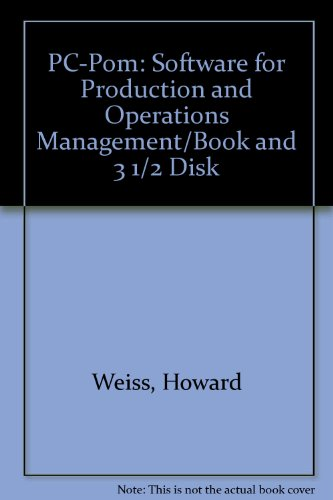 9780205122912: Pc-Pom: Software for Production and Operations Management/Book and 3 1/2