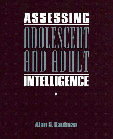 9780205123902: Assessing Adolescent and Adult Intelligence