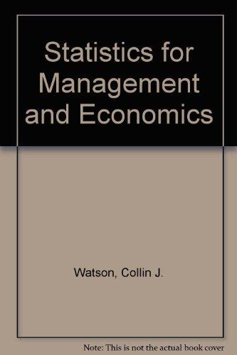 9780205124879: Statistics for Management and Economics