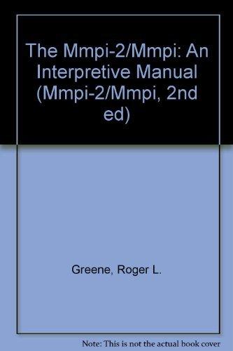 9780205125258: The MMPI-2/MMPI: An Interpretive Manual