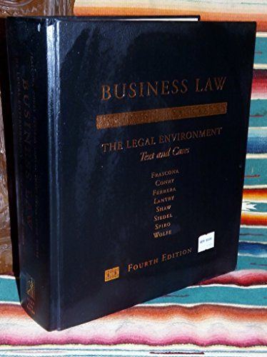 Business Law: The Legal Environment - Text: J.D. Joseph L.