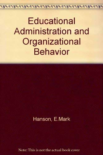 9780205126514: Educational Administration and Organizational Behavior