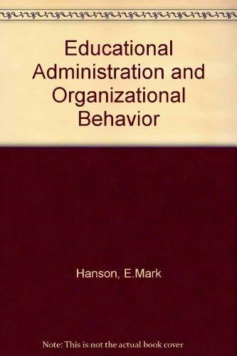 9780205126514: Educational Administration and Organizational Behavior