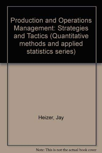 9780205127177: Production and Operations Management: Strategies and Tactics