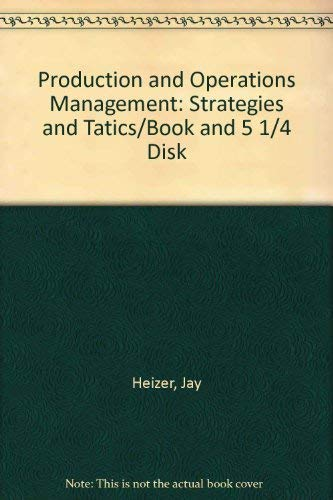 9780205127238: Production and Operations Management: Strategies and Tatics