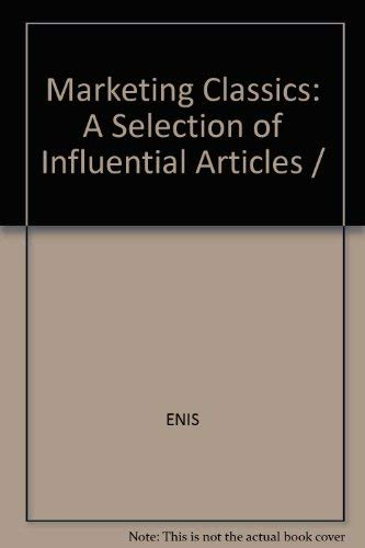 Marketing Classics: A Selection of Influential Articles: ENIS