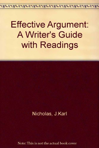9780205130634: Effective Argument: A Writer's Guide With Readings