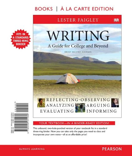 9780205131280: Writing, A Guide for College and Beyond, Brief Edition, Books a la Carte Edition (2nd Edition)