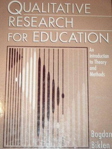 9780205132669: Qualitative Research for Education: An Introduction to Theory and Methods