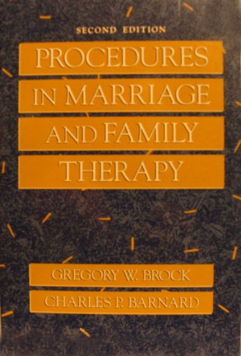 9780205134168: Procedures in Marriage and Family Therapy