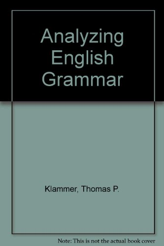 9780205134335: Analyzing English Grammar