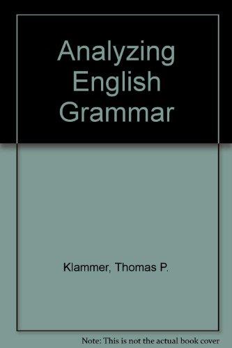 9780205134335: Analyzing English Grammar