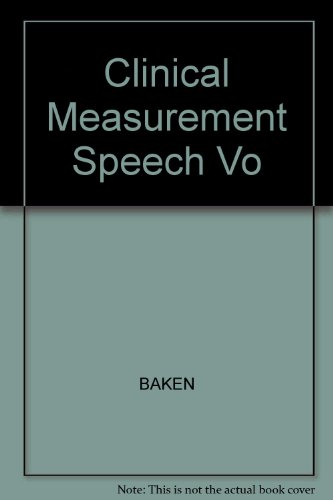 9780205135547: Clinical Measurement of Speech and Voice