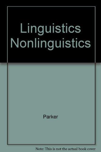 9780205135738: Linguistics for Non-linguists