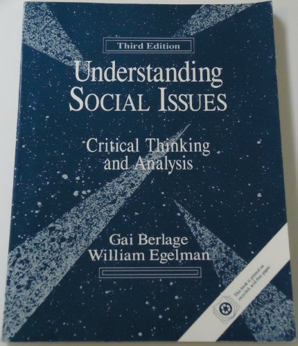 9780205139125: Understanding Social Issues: Critical Thinking and Analysis