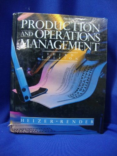 9780205140480: Production and Operations Management: Strategies and Tactics (Quantitative Methods and Applied Statistics)