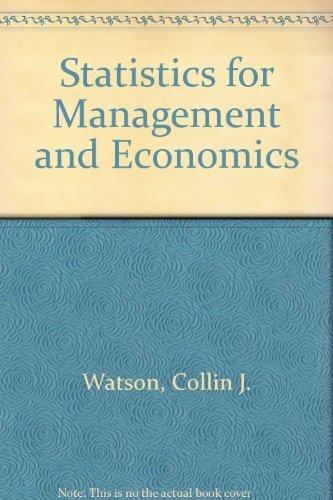 9780205140947: Statistics for Management and Economics (Quantitative Methods & Applied Statistics Series)
