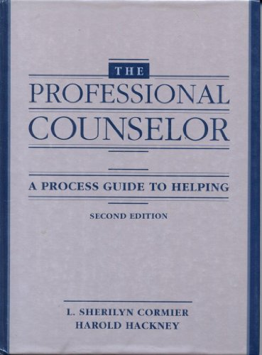 9780205141562: The Professional Counselor: A Process Guide to Helping