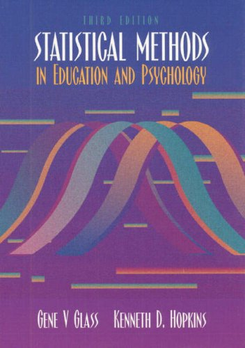 9780205142125: Statistical Methods in Education and Psychology (3rd Edition)