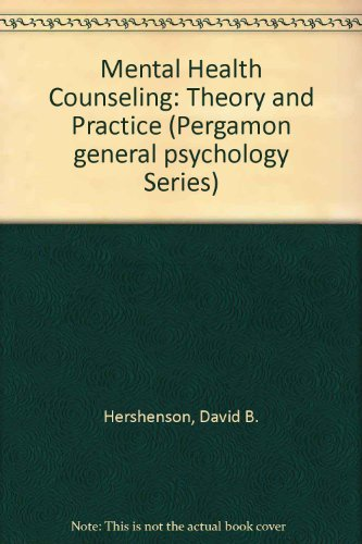 9780205143634: Mental Health Counseling: Theory and Practice (Pergamon General Psychology Series)