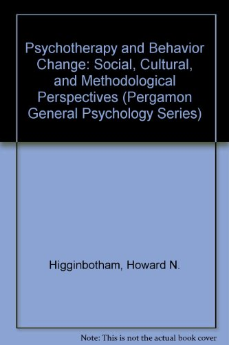 9780205143665: Psychotherapy and Behavior Change: Social, Cultural, and Methodological Perspectives (Pergamon General Psychology Series)