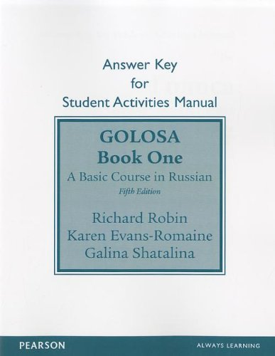 9780205149865: SAM Answer Key for Golosa: A Basic Course in Russian, Book One