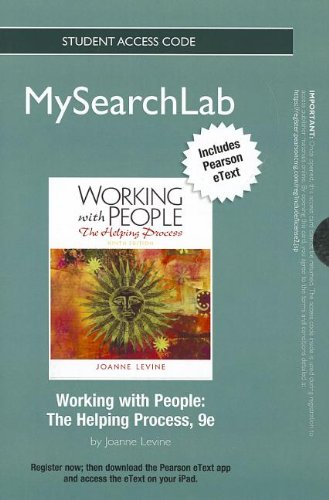 9780205152353: MyLab Search with Pearson eText -- Standalone Access Card -- for Working with People: The Helping Process (9th Edition) (MySearchLab (Access Codes))