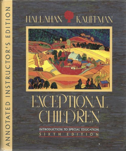 Annotated instructor's edition: Exceptional children: Introduction to special education: ...