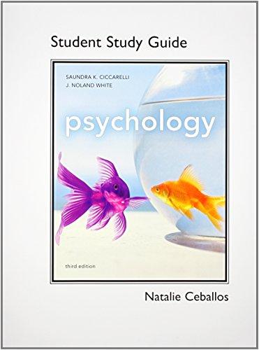 Study Guide for Psychology: Saundra Ciccarelli, J.