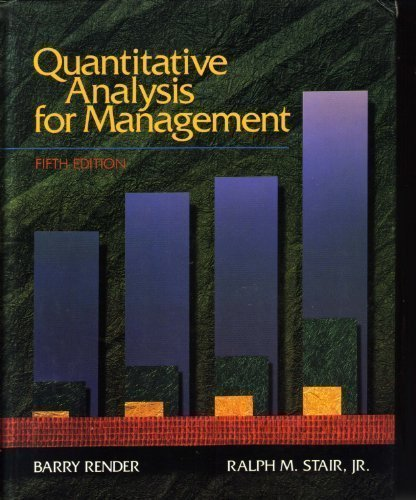 9780205153794: Quantitative Analysis for Management (Quantitative Methods and Applied Statistics)