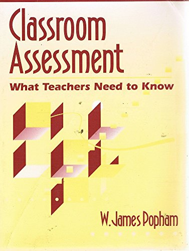 9780205154296: Classroom Assessment: What Teachers Need to Know