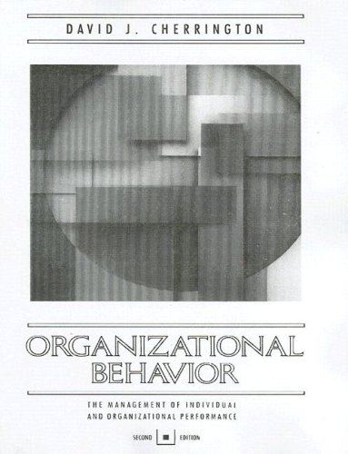 9780205155507: Organizational Behavior: The Management of Individual and Organizational Perfomance (2nd Edition)