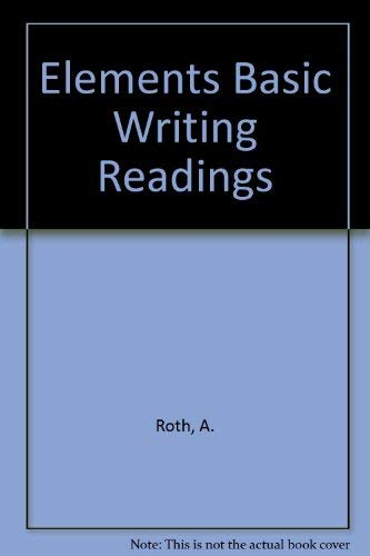 9780205157402: Elements of Basic Writing With Readings