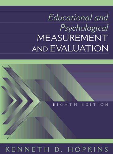9780205160877: Educational and Psychological Measurement and Evaluation (8th Edition)