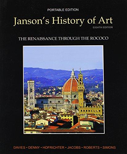 9780205161140: Janson's History of Art Portable Edition Book 3: The Renaissance through the Rococo (8th Edition)