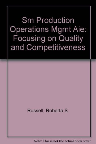 9780205163403: Production and Operations Management: Focusing on Quality and Competitiveness