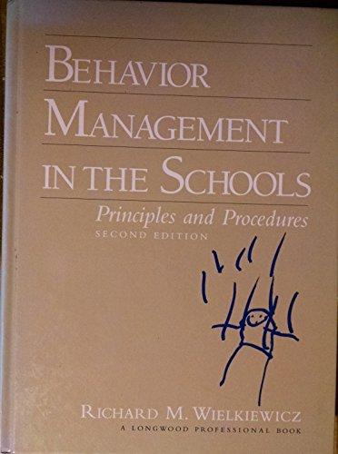 9780205164585: Behavior Management in the Schools: Principles and Procedures