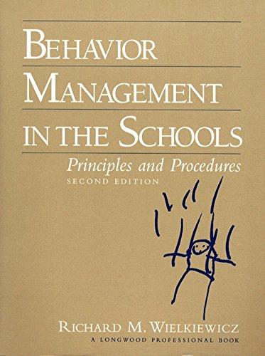 9780205164592: Behavior Management in the Schools: Principles and Procedures