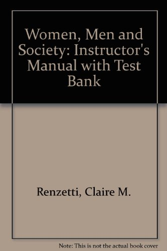 9780205166794: Women, Men and Society: Instructor's Manual with Test Bank