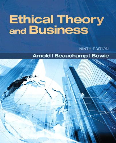 9780205169085: Ethical Theory and Business