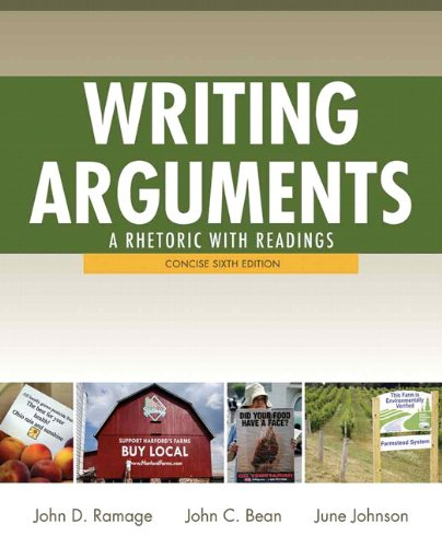 9780205171491: Writing Arguments: Concise Edition: A Rhetoric with Readings
