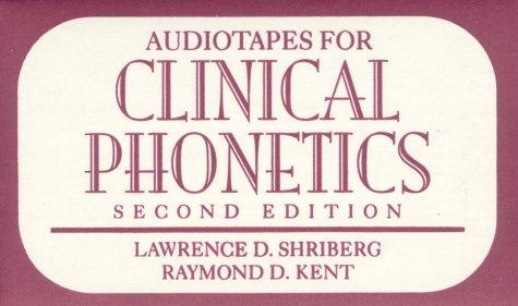 9780205171750: Audio Tapes: Shriberg:Clin Phonetics Audio Cass