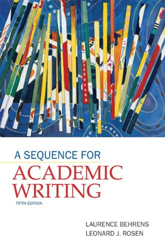 9780205172887: A Sequence for Academic Writing (5th Edition)