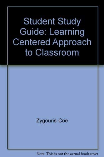 9780205175864: Educational Psychology : Learning Centered Approach to Classroom Practice : Study Guide