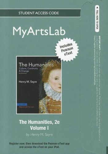 9780205177752: NEW MyArtsLab with Pearson eText Student Access Code Card for The Humanities, Volume 1 (standalone) (2nd Edition) (MyArtsLab (Access Codes))