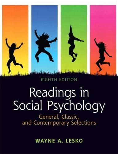 9780205179671: Readings in Social Psychology: General, Classic, and Contemporary Selections (8th Edition)