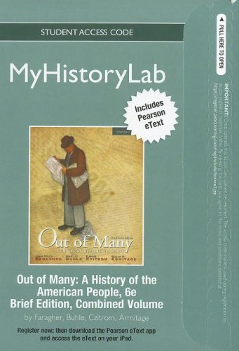 NEW MyLab History with Pearson eText --: Faragher, John M;