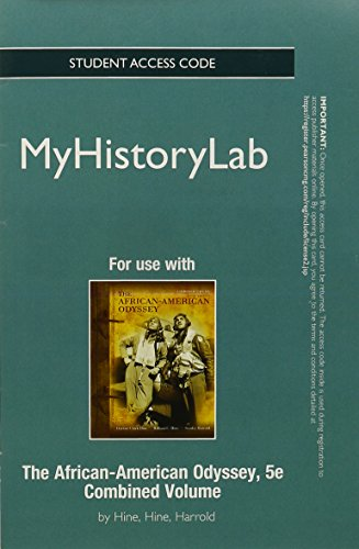 9780205181520: NEW MyHistoryLab -- Standalone Access Card -- for The African-American Odyssey (5th Edition)