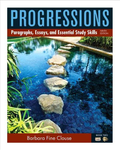 9780205186044: Progressions, Book 2: Paragraphs, Essays, and Essentials Study Skills (9th Edition)