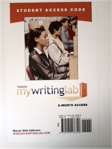 9780205186358: MyWritingLab -- Standalone Access Card (6-month access)
